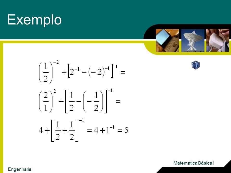 Exemplo Matemática Básica I Engenharia