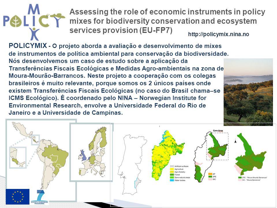 POLICYMIX - O projeto aborda a avaliação e desenvolvimento de mixes de instrumentos de política ambiental para conservação da biodiversidade.