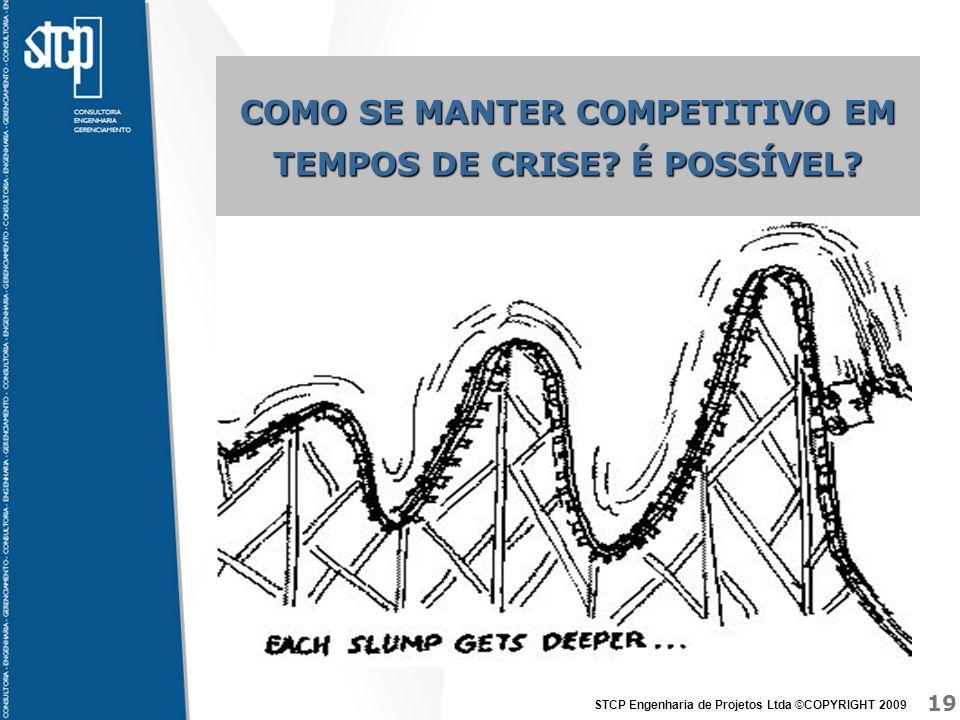 19 STCP Engenharia de Projetos Ltda ©COPYRIGHT 2009 COMO SE MANTER COMPETITIVO EM TEMPOS DE CRISE? É POSSÍVEL?