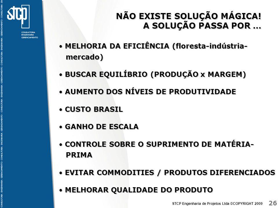 26 STCP Engenharia de Projetos Ltda ©COPYRIGHT 2009 NÃO EXISTE SOLUÇÃO MÁGICA.