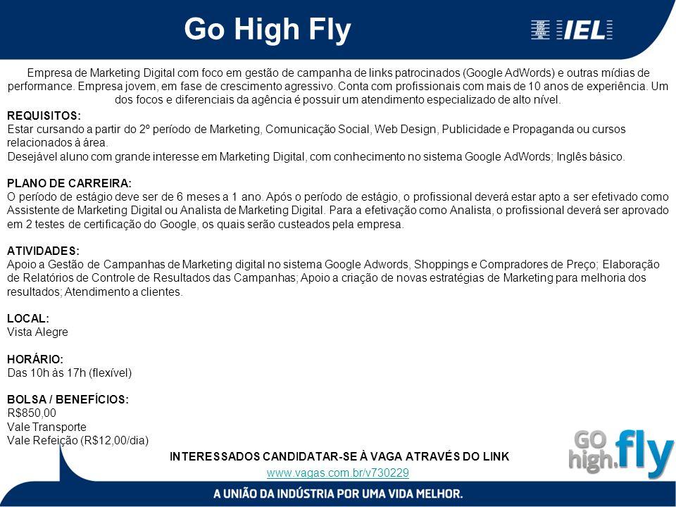Go High Fly Empresa de Marketing Digital com foco em gestão de campanha de links patrocinados (Google AdWords) e outras mídias de performance.
