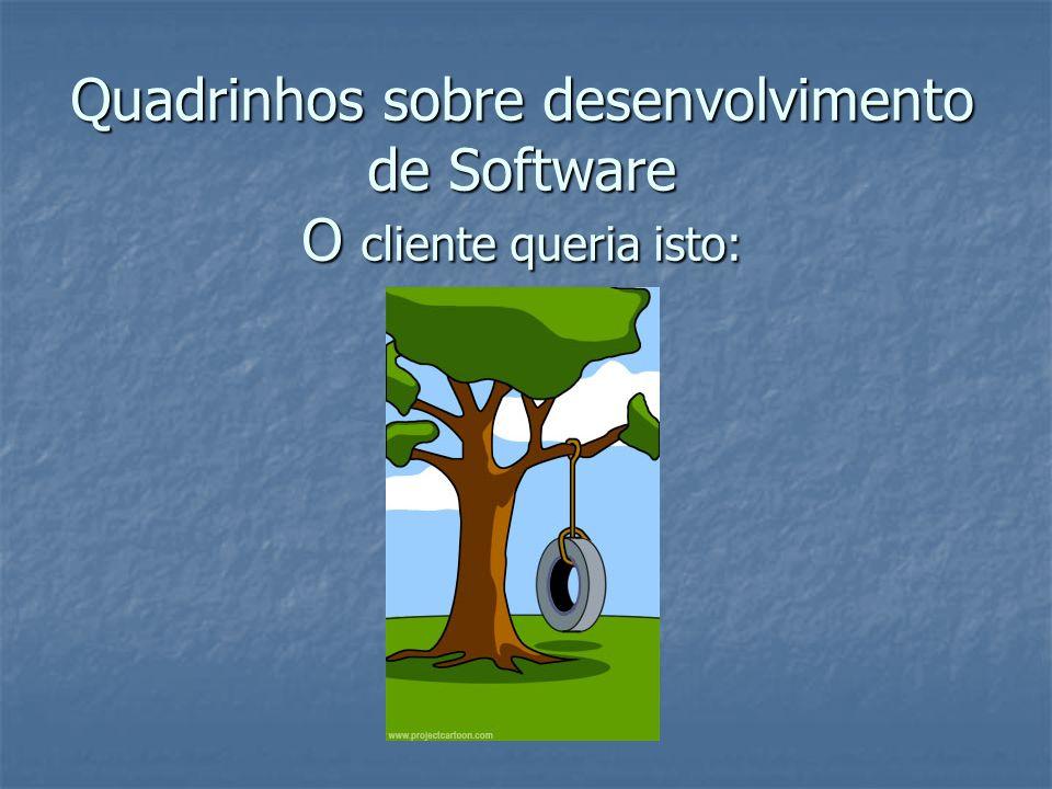 Quadrinhos sobre desenvolvimento de Software O cliente queria isto: