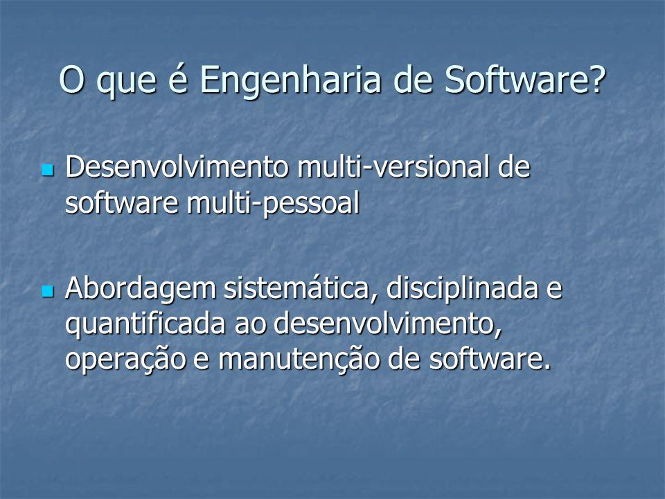 O que é Engenharia de Software? Desenvolvimento multi-versional de software multi-pessoal Desenvolvimento multi-versional de software multi-pessoal Ab