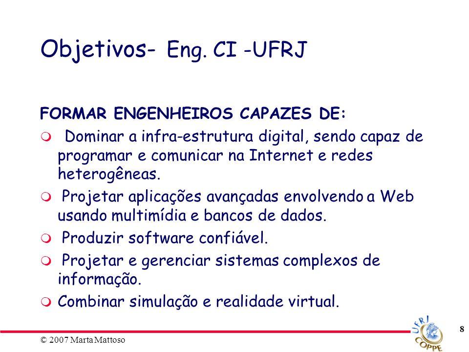 © 2007 Marta Mattoso 9 Corpo Docente - Eng.CI -UFRJ COPPE: Programa de Eng.