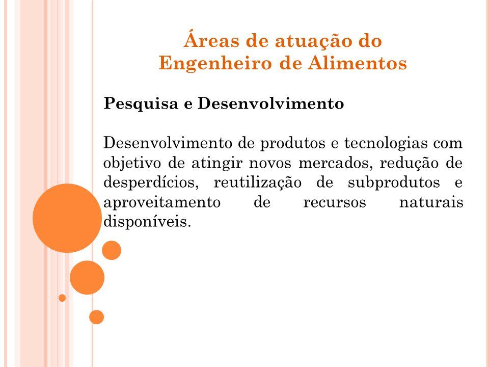 Pesquisa e Desenvolvimento Desenvolvimento de produtos e tecnologias com objetivo de atingir novos mercados, redução de desperdícios, reutilização de