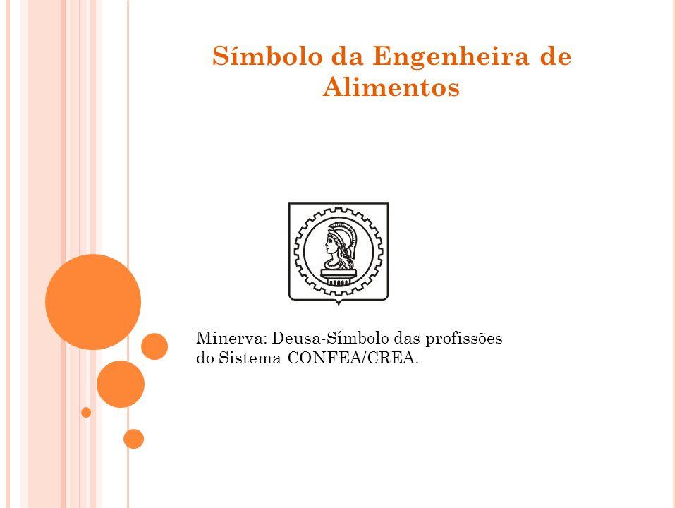 Símbolo da Engenheira de Alimentos Minerva: Deusa-Símbolo das profissões do Sistema CONFEA/CREA.
