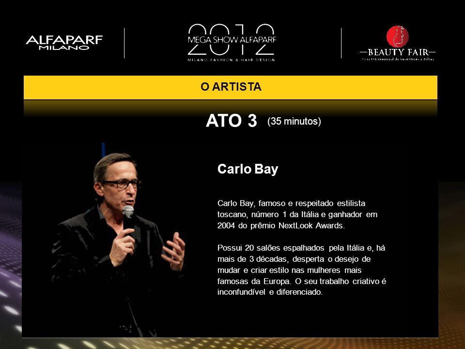 Carlo Bay Carlo Bay, famoso e respeitado estilista toscano, número 1 da Itália e ganhador em 2004 do prêmio NextLook Awards. Possui 20 salões espalhad