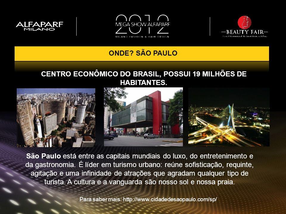 São Paulo está entre as capitais mundiais do luxo, do entretenimento e da gastronomia. É líder em turismo urbano: reúne sofisticação, requinte, agitaç