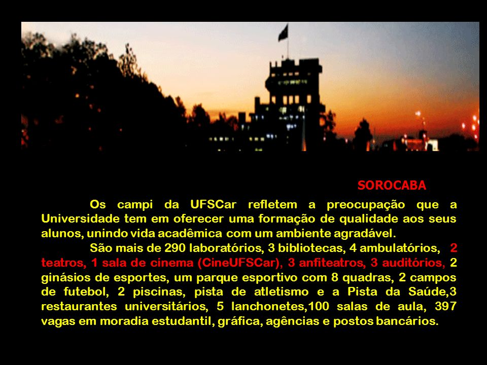 Os campi da UFSCar refletem a preocupação que a Universidade tem em oferecer uma formação de qualidade aos seus alunos, unindo vida acadêmica com um a