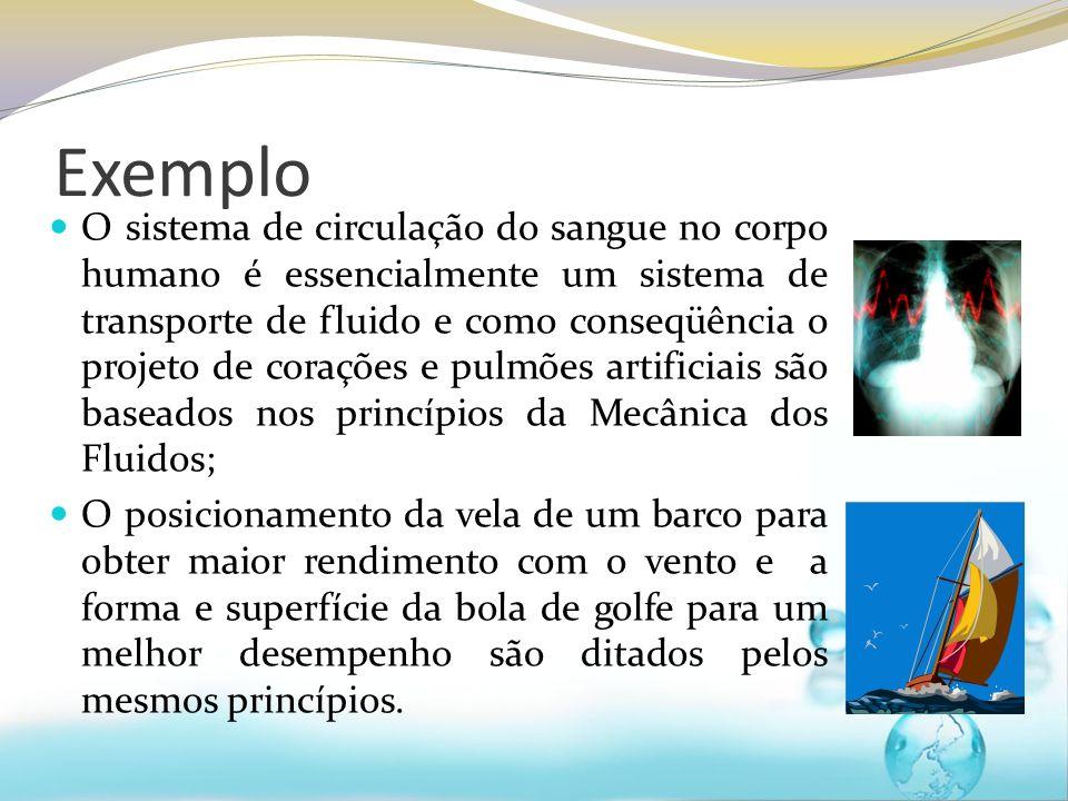 Exemplo O sistema de circulação do sangue no corpo humano é essencialmente um sistema de transporte de fluido e como conseqüência o projeto de coraçõe