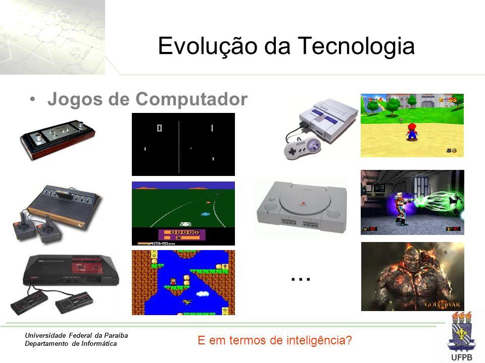 Universidade Federal da Paraíba Departamento de Informática Evolução da Tecnologia Jogos de Computador... E em termos de inteligência?