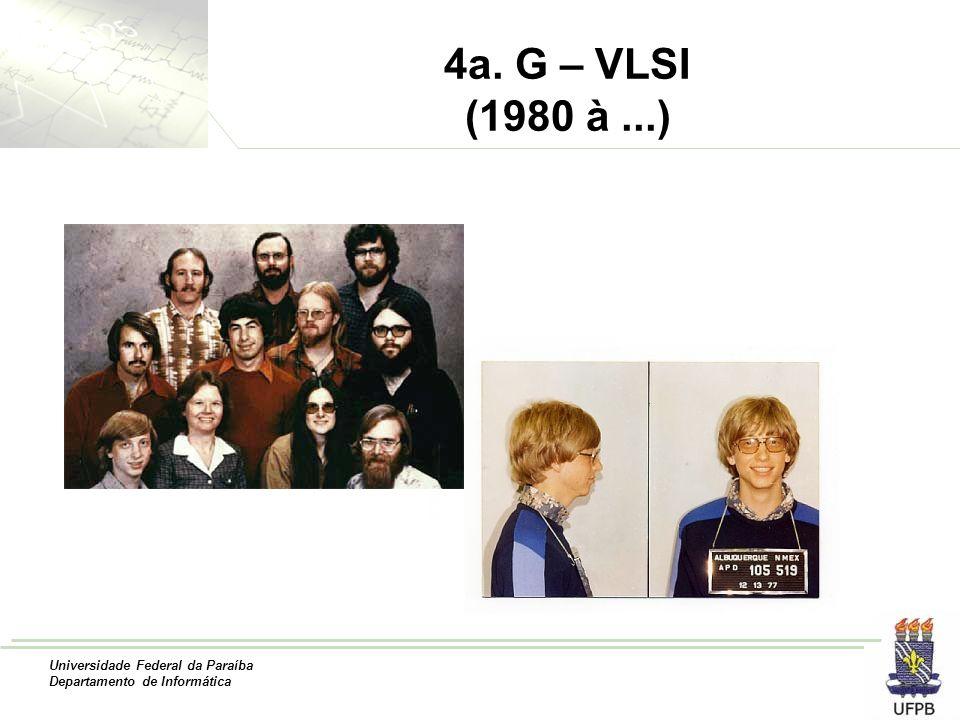 Universidade Federal da Paraíba Departamento de Informática 4a. G – VLSI (1980 à...)