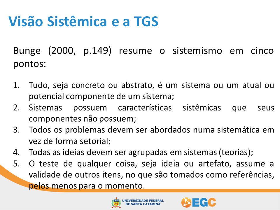 Referências ALVES, J.B.da M. Teoria geral dos sistemas.