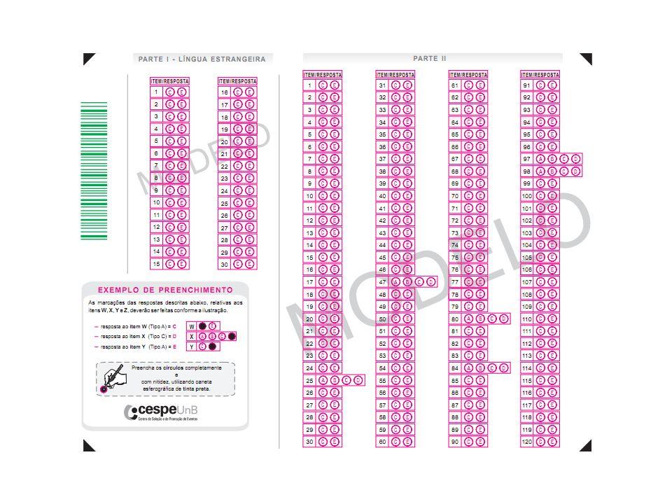 Argumento Final (AF) AF = 2 x EP 1 + 6 x EP 2 + 5 x EP 3, para os cursos do grupo I (área de Humanas); AF = 1 x EP 1 + 4 x EP 2 + 8 x EP 3, para os cursos do grupo I (área de Exatas e Ciências da Saúde).