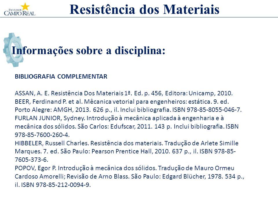 Informações sobre a disciplina: BIBLIOGRAFIA COMPLEMENTAR ASSAN, A.