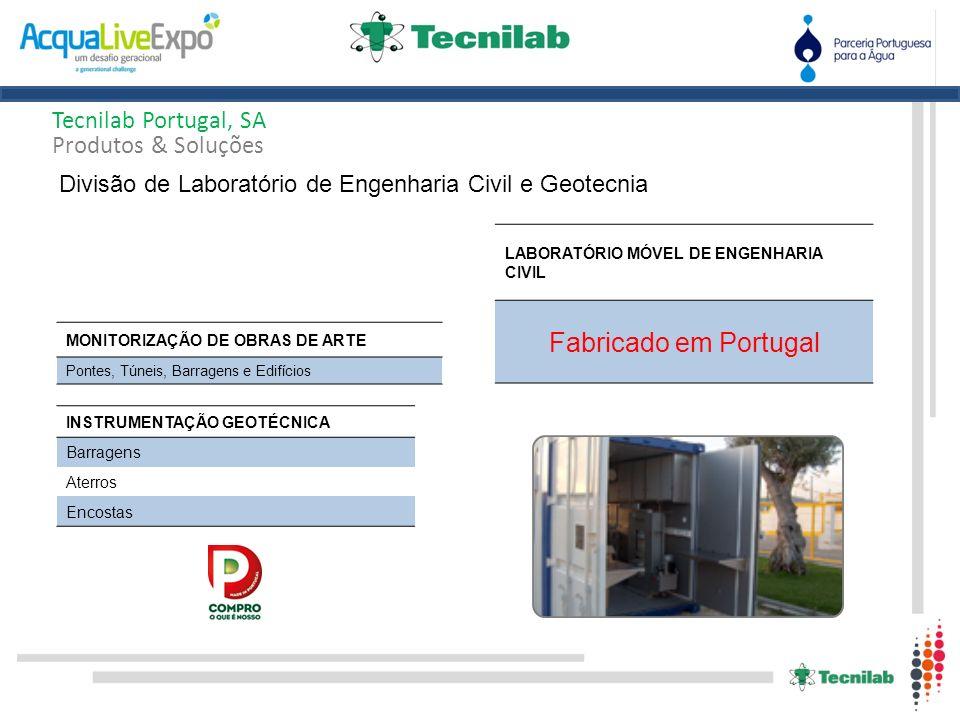 Tecnilab Portugal, SA Produtos & Soluções Divisão de Laboratório de Engenharia Civil e Geotecnia INSTRUMENTAÇÃO GEOTÉCNICA Barragens Aterros Encostas