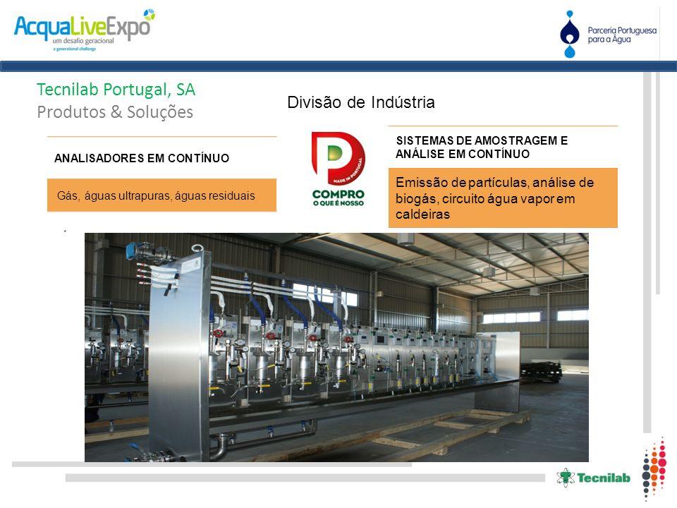 . Tecnilab Portugal, SA Produtos & Soluções Divisão de Indústria SISTEMAS DE AMOSTRAGEM E ANÁLISE EM CONTÍNUO Emissão de partículas, análise de biogás
