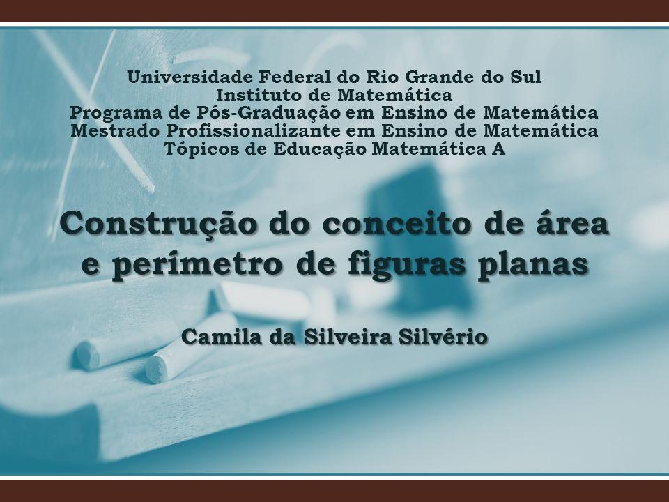 Construção do conceito de área e perímetro de figuras planas Camila da Silveira Silvério Universidade Federal do Rio Grande do Sul Instituto de Matemá
