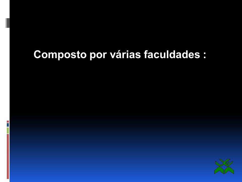 Principais Características: Centro composto por várias faculdades Centro multidisciplinar Centro multi-funções
