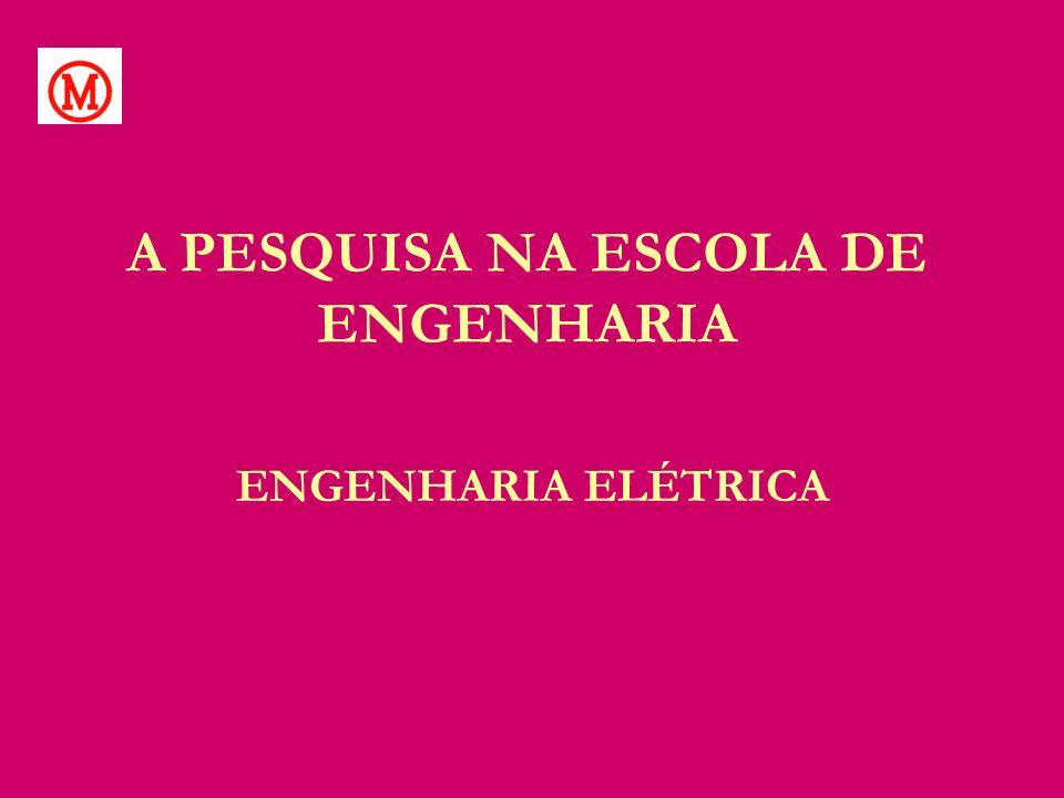 A PESQUISA NA ESCOLA DE ENGENHARIA ENGENHARIA ELÉTRICA
