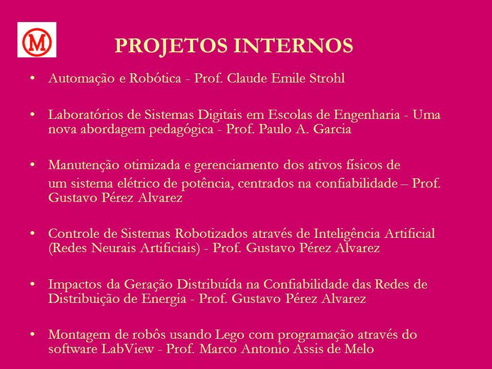 PROJETOS INTERNOS Automação e Robótica - Prof. Claude Emile Strohl Laboratórios de Sistemas Digitais em Escolas de Engenharia - Uma nova abordagem ped
