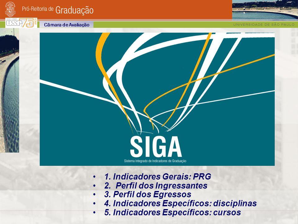1. Indicadores Gerais: PRG 2. Perfil dos Ingressantes 3.