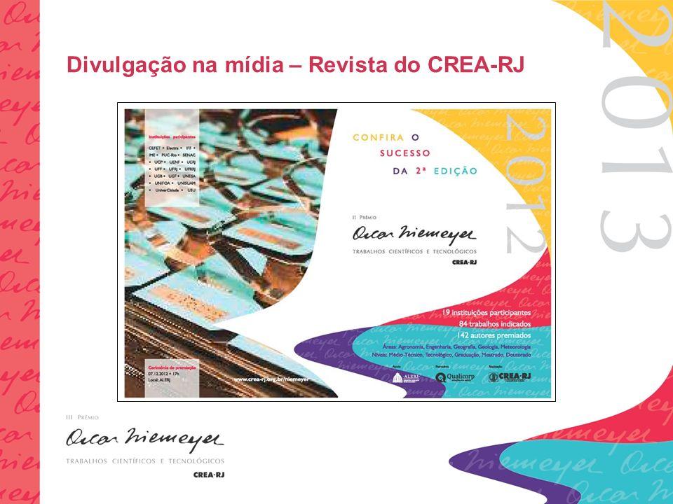 Divulgação na mídia – Revista do CREA-RJ