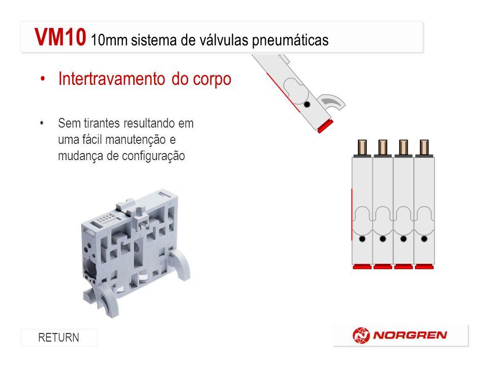 Opção de montagem em painel Flexibilidade de montagem RETURN VM10 10mm sistema de válvulas pneumáticas