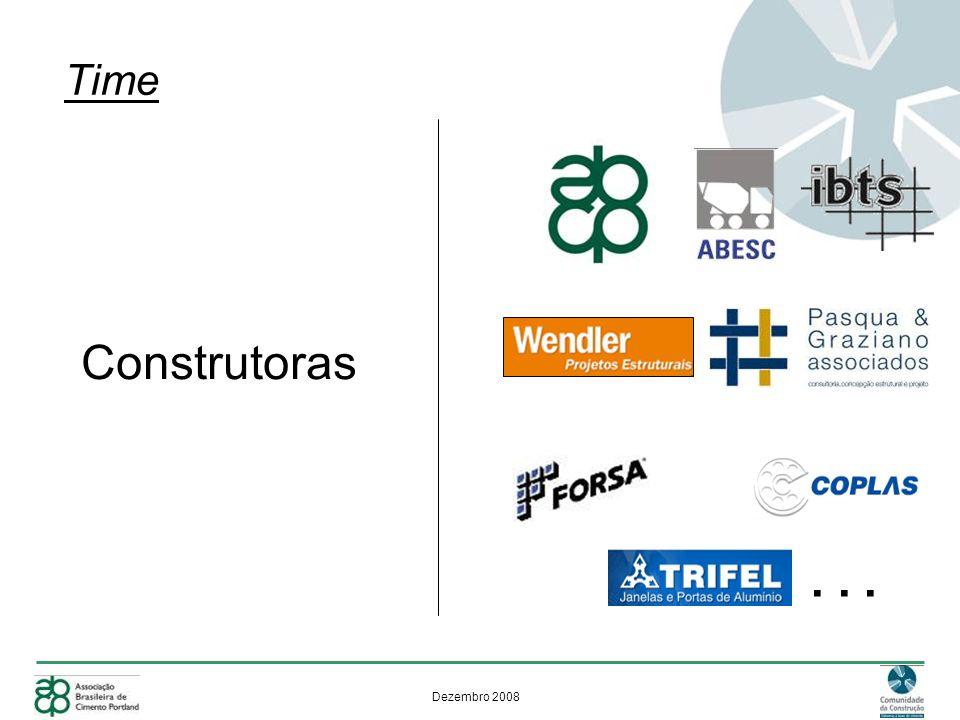 Dezembro 2008 Nosso time Construtoras... Time