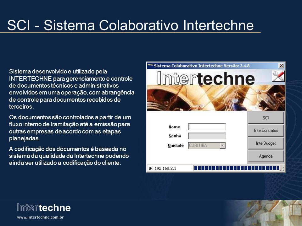 SCI - Sistema Colaborativo Intertechne Sistema desenvolvido e utilizado pela INTERTECHNE para gerenciamento e controle de documentos técnicos e admini