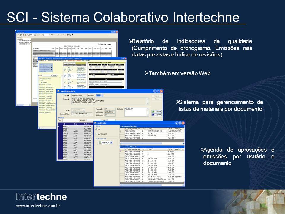 Também em versão Web Relatório de Indicadores da qualidade (Cumprimento de cronograma, Emissões nas datas previstas e Índice de revisões) Sistema para