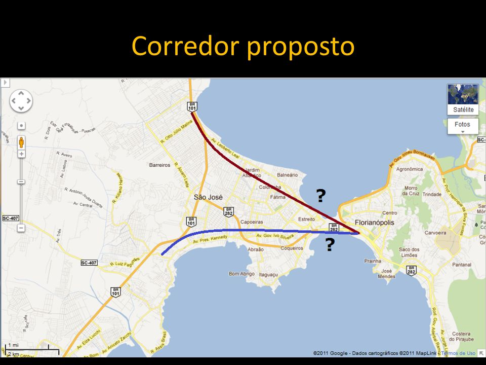 Corredor proposto