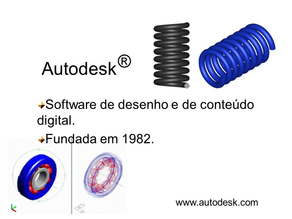Autodesk Software de desenho e de conteúdo digital. Fundada em 1982. www.autodesk.com ®