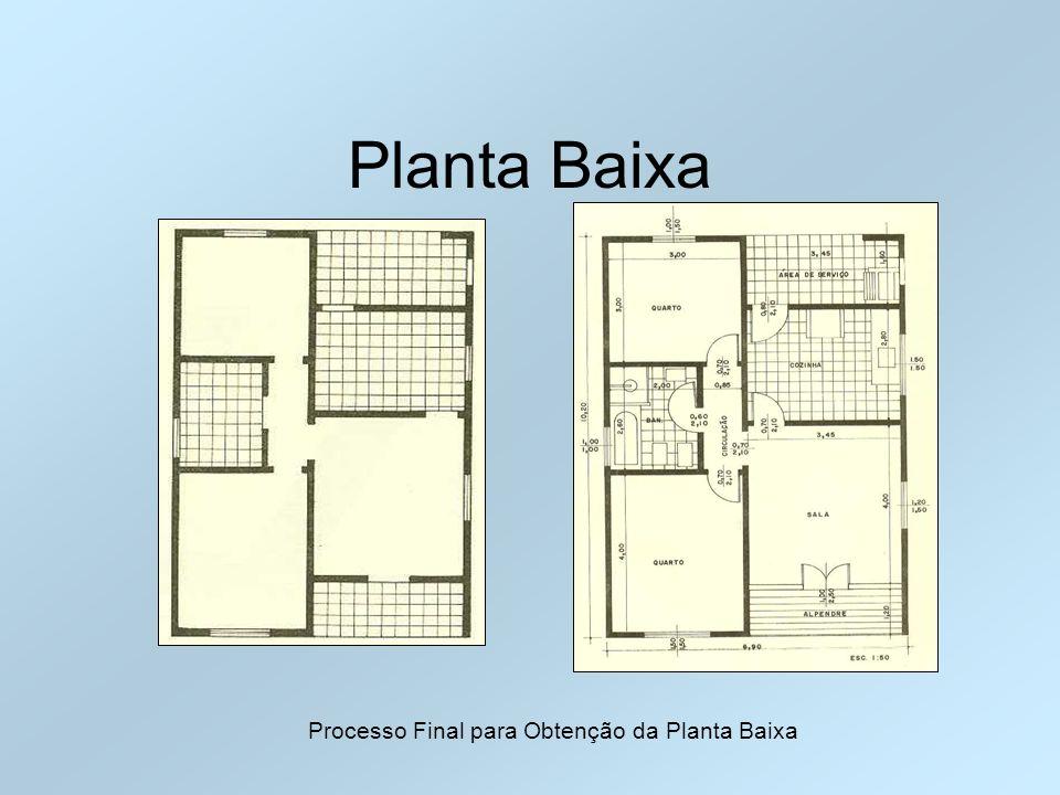 Planta Baixa Processo Final para Obtenção da Planta Baixa