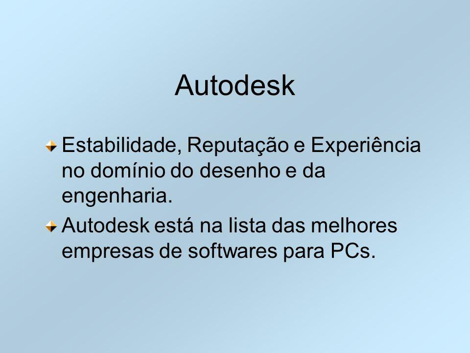 Autodesk Estabilidade, Reputação e Experiência no domínio do desenho e da engenharia. Autodesk está na lista das melhores empresas de softwares para P