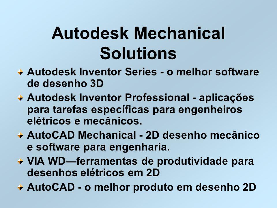 Autodesk Mechanical Solutions Autodesk Inventor Series - o melhor software de desenho 3D Autodesk Inventor Professional - aplicações para tarefas espe