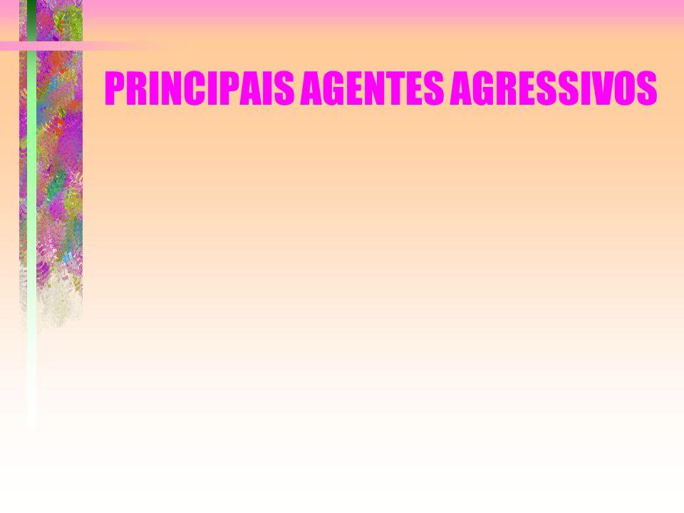 PRINCIPAIS AGENTES AGRESSIVOS