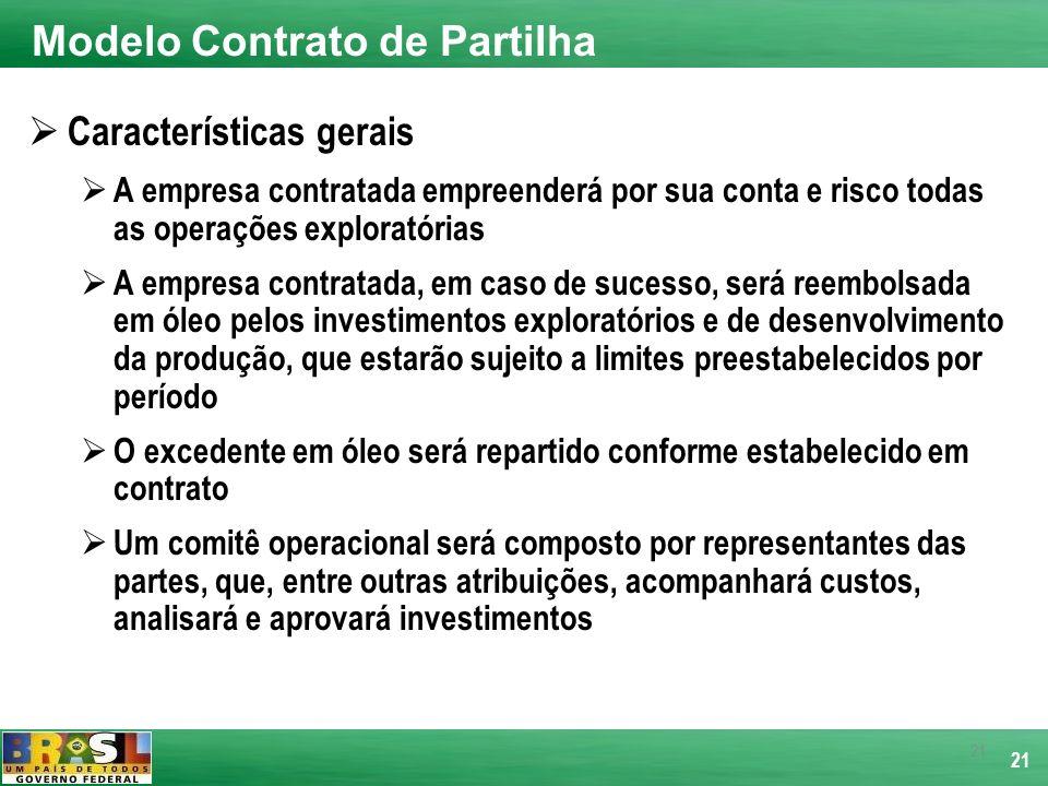 21 Características gerais A empresa contratada empreenderá por sua conta e risco todas as operações exploratórias A empresa contratada, em caso de suc