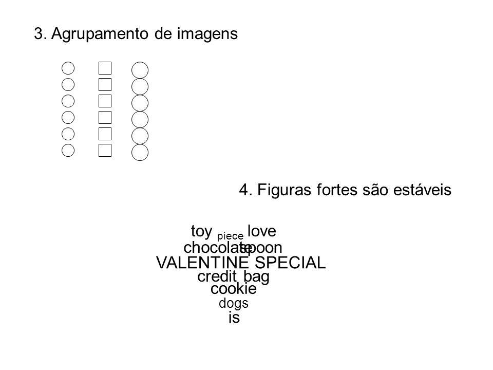 3. Agrupamento de imagens 4. Figuras fortes são estáveis VALENTINE SPECIAL love cookie toy dogs chocolate credit spoon piece is bag