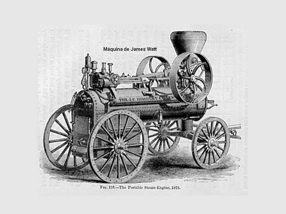 Steam – engine in action Século XVIII 1765 - James Watt, na Grã-Bretanha, introduz o condensador na máquina de Newcomen, componente que aumenta consideravelmente a eficiência do motor a vapor.