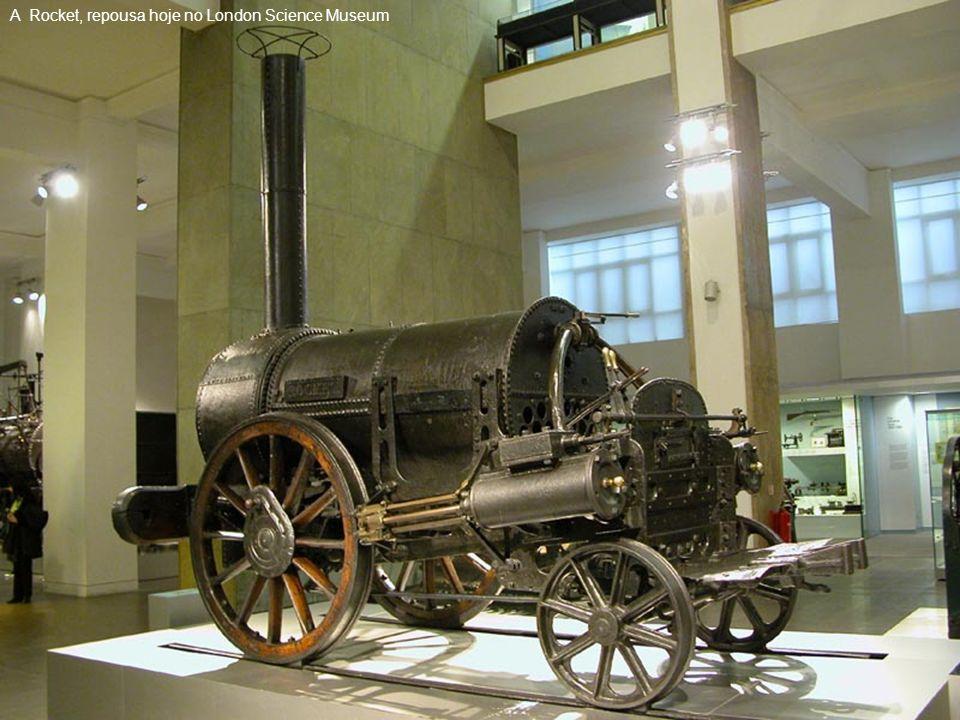 Stephenson viria a construir a primeira linha férrea, entre Stockton e a região mineira de Darlington, que foi inaugurada em 27 de Setembro de 1825 e tinha 61 km de comprimento; quatro anos mais tarde, foi chamado a construir a linha férrea entre Liverpool e Manchester.