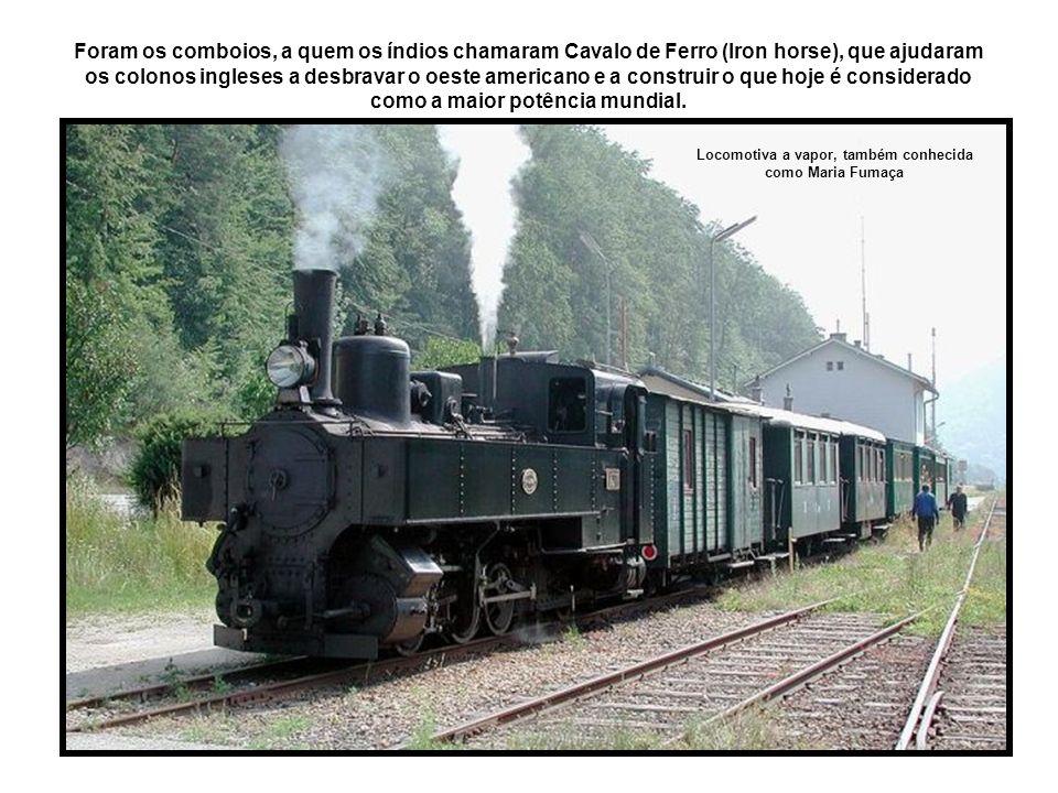 Num ápice, as locomotivas passaram do vapor à eletricidade.