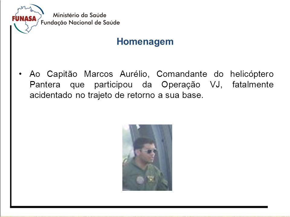 Homenagem Ao Capitão Marcos Aurélio, Comandante do helicóptero Pantera que participou da Operação VJ, fatalmente acidentado no trajeto de retorno a su