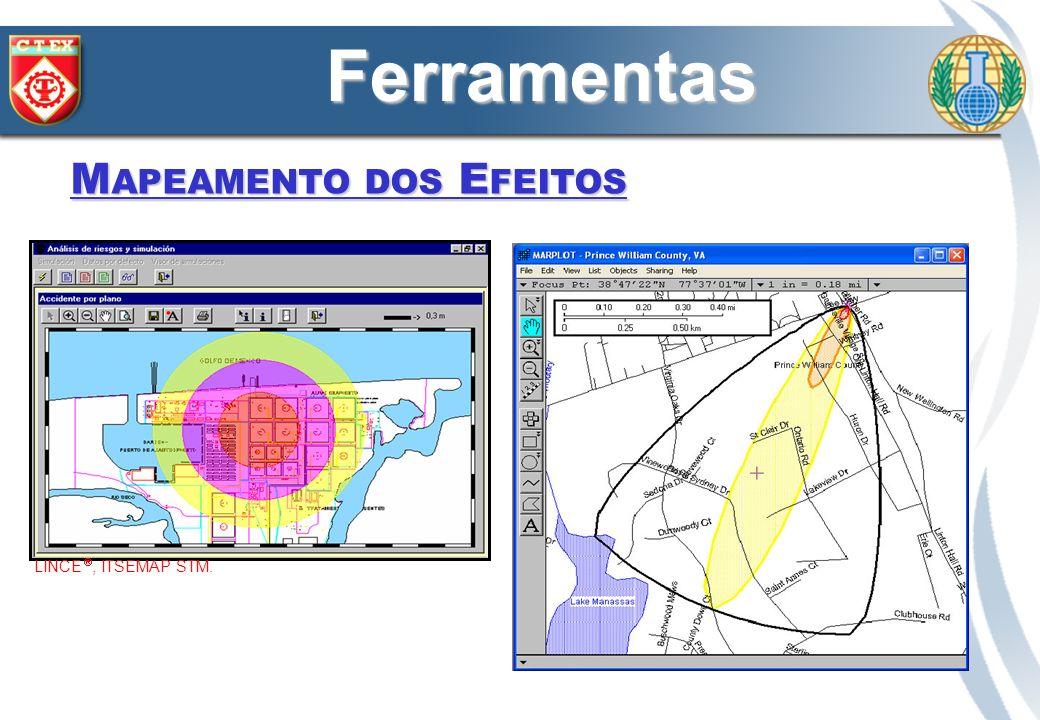 M APEAMENTO DOS E FEITOS LINCE, ITSEMAP STM. ALOHA/MARPLOT, USEPA.. Ferramentas