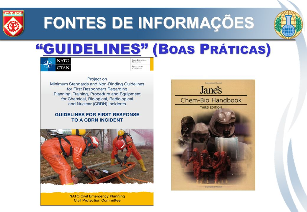 GUIDELINES (B OAS P RÁTICAS )GUIDELINES (B OAS P RÁTICAS ) FONTES DE INFORMAÇÕES