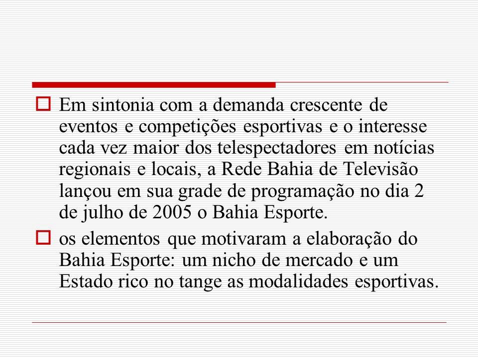 Em sintonia com a demanda crescente de eventos e competições esportivas e o interesse cada vez maior dos telespectadores em notícias regionais e locai