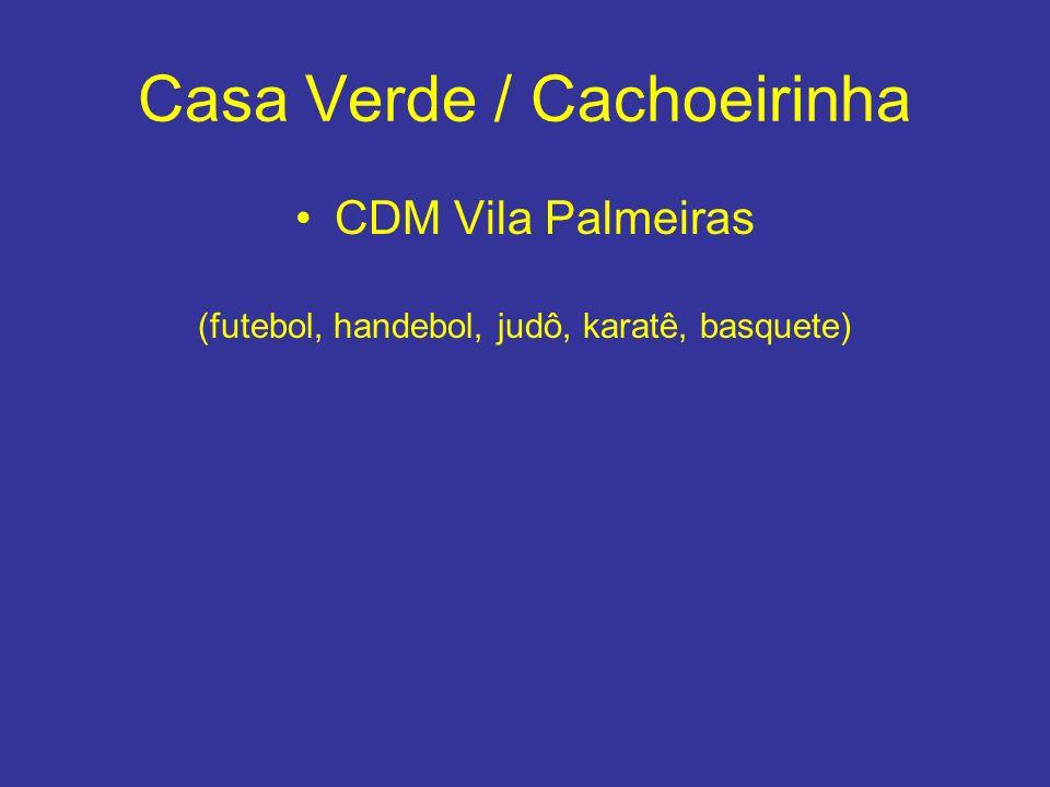 Casa Verde / Cachoeirinha CDM Vila Palmeiras (futebol, handebol, judô, karatê, basquete)