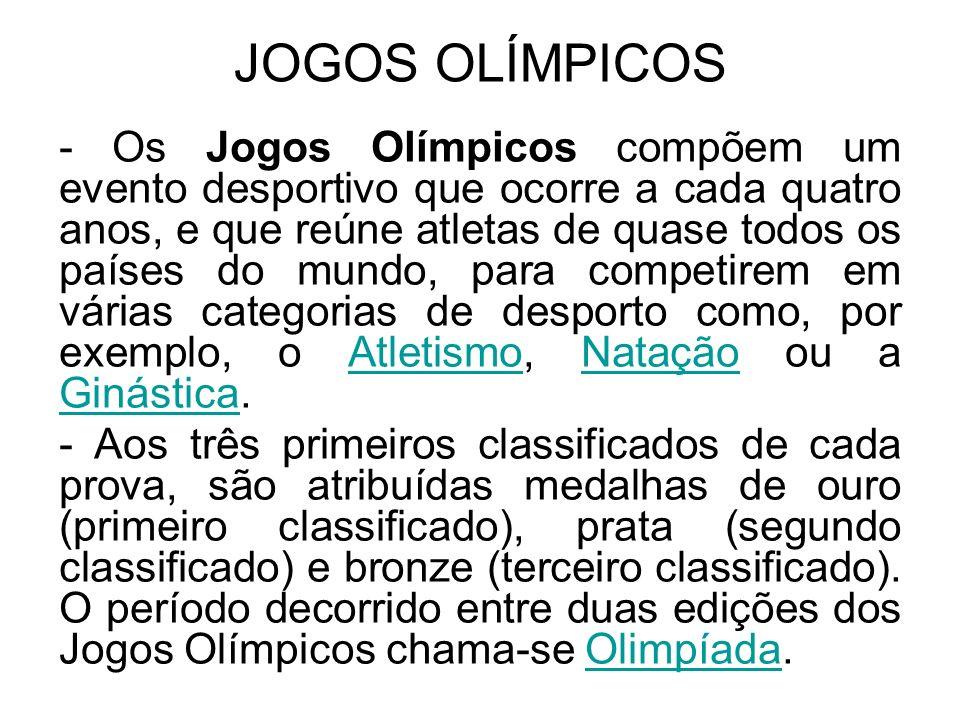 ORIGEM DOSJOGOS OLÍMPICOS Foram os gregos que criaram os Jogos Olímpicos.