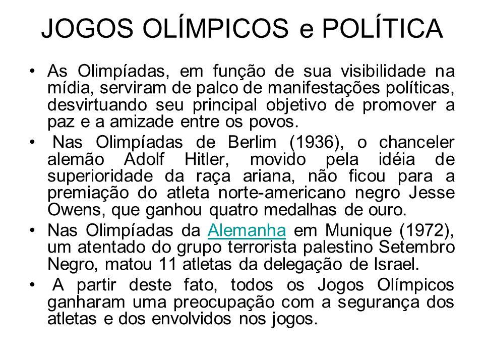 Em plena Guerra Fria, os EUA boicotaram os Jogos Olímpicos de Moscou (1980) em protesto contra a invasão do Afeganistão pelas tropas soviéticas.
