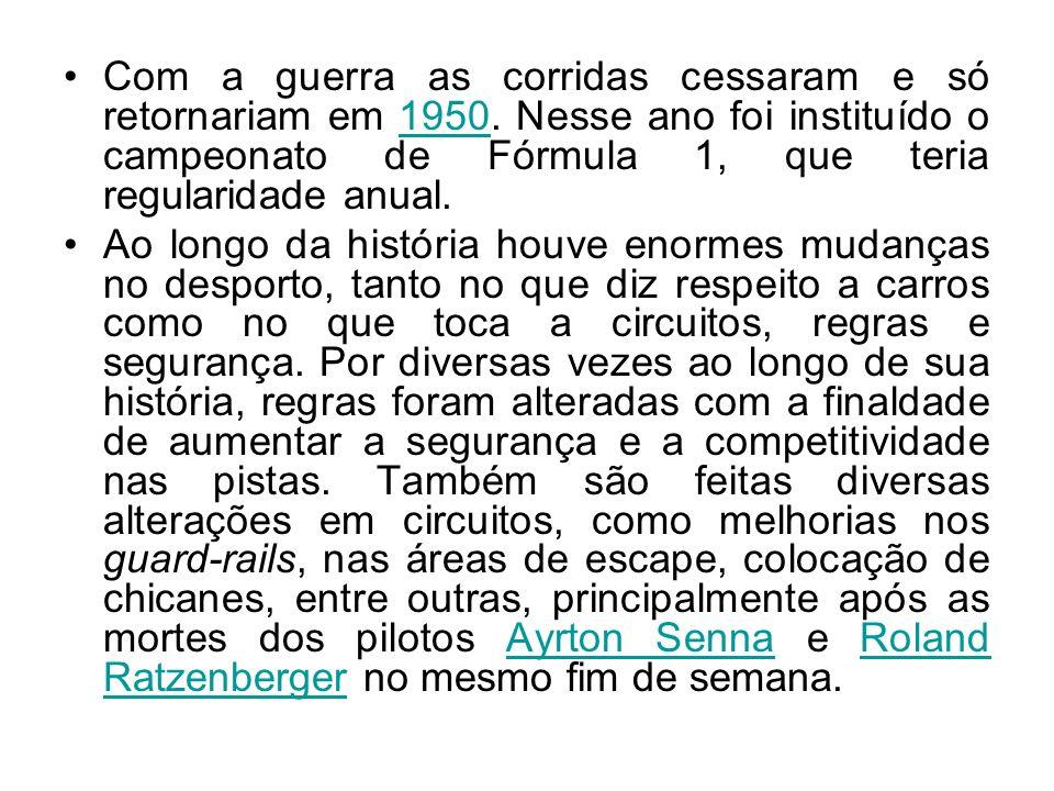 Formula 1 Brasileiros Campeões 1972 - Emerson Fittipaldi 1974 - Emerson Fittipaldi 1981 - Nelson Piquet 1983 - Nelson Piquet 1987 - Nelson Piquet 1988 - Ayrton Senna 1990 - Ayrton Senna 1991 - Ayrton Senna